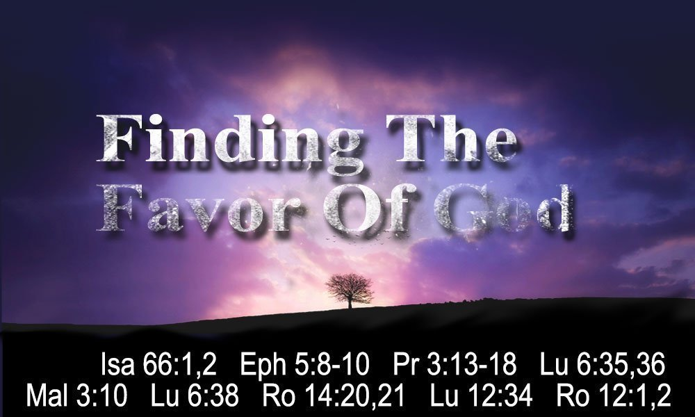 Finding the Favor of God Image