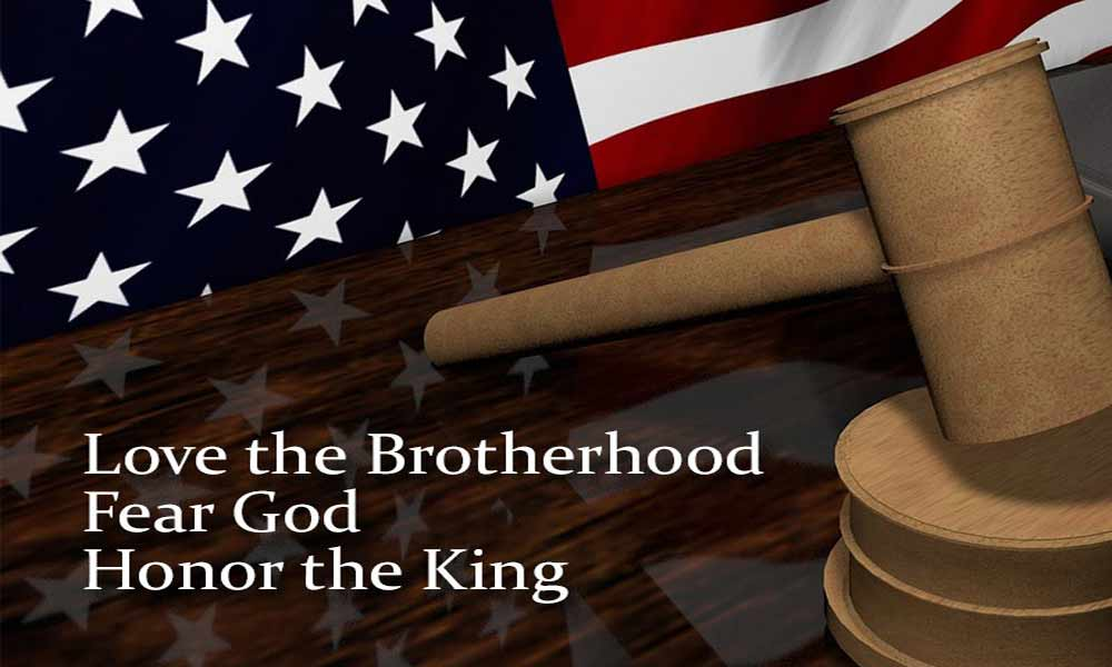 Love the Brotherhood, Fear God, Honor the King  Image