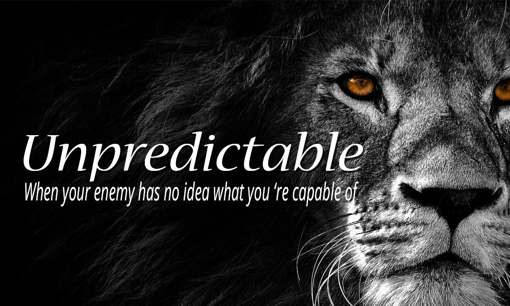 Unpredictable, When Your Enemy has no Idea What You\'re Capable Of